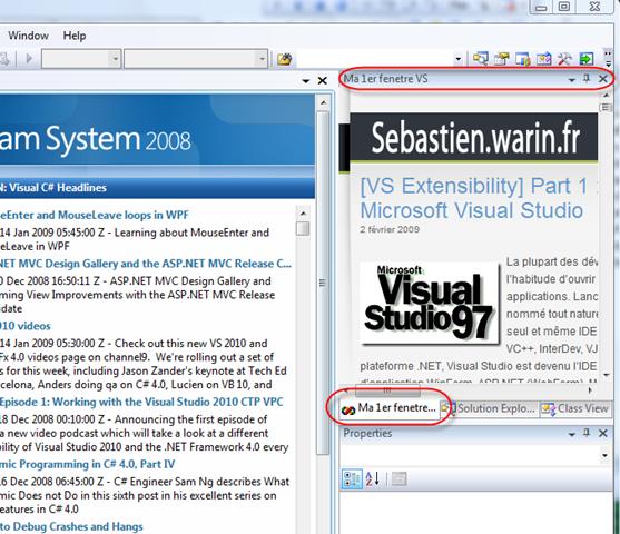 Vs extensibility part 2 cr ez vos fen tres d 39 outils for Fenetre windows outils