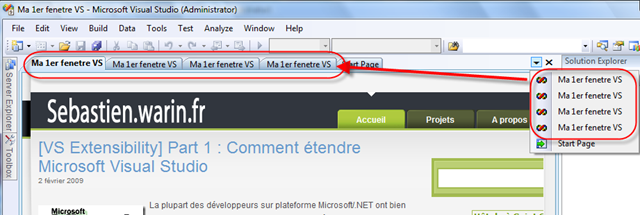 Vs extensibility part 2 cr ez vos fen tres d 39 outils for Fenetre volante