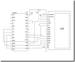Cablage du LCD HD44780