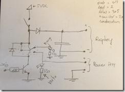 Schéma du circuit de relais