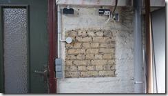 Mur côté garage