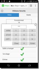 Interface sur un smartphone Android 4.4