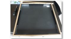 Installation du papier canson noir