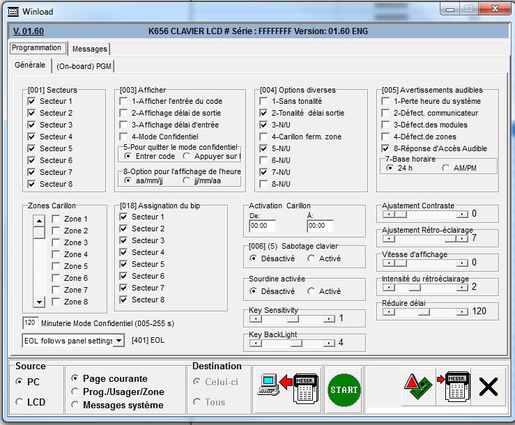 configuration du clavier k656