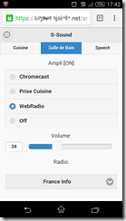 Interface S-Sound sur smartphone