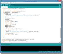 Programmation de l'Arduino