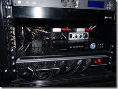 S-Sound installé dans la baie réseau
