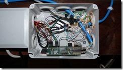 Partie RPi avec filtrage des entrées par condensateur