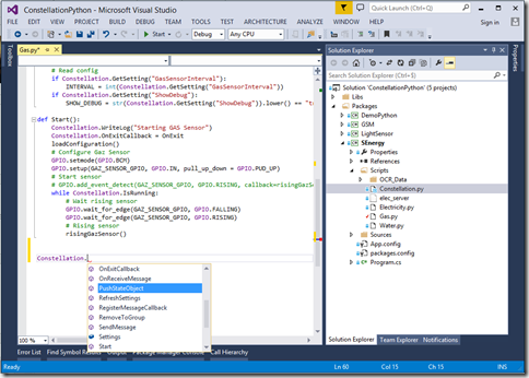 Developpement dans Visual Studio