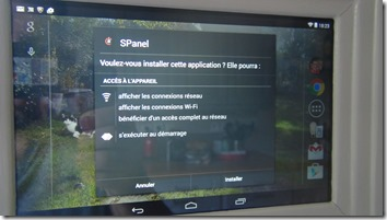 Installation de l'application S-Panel