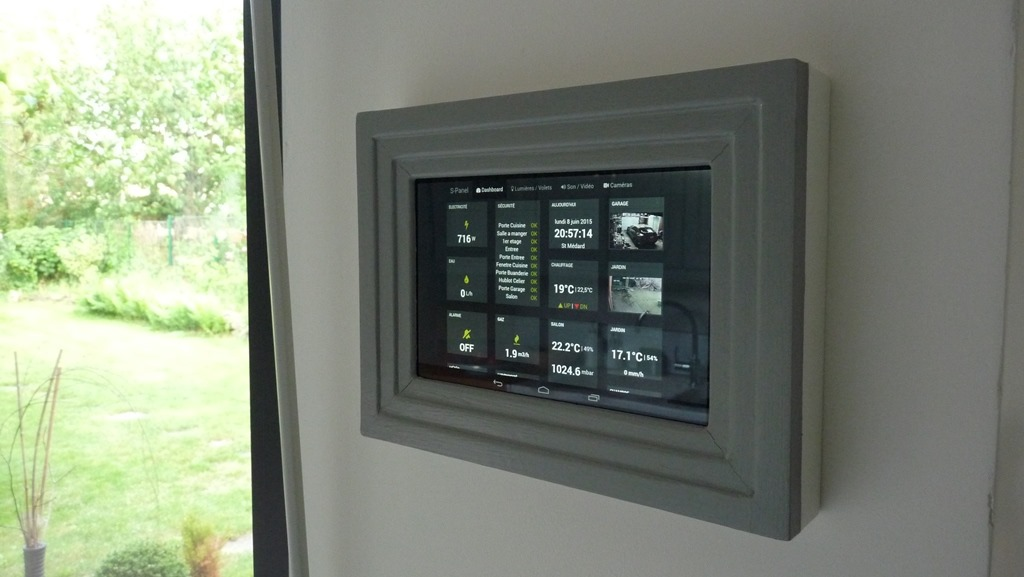 S panel un dashboard mural pour la domotique et iot - Mettre une alarme ...