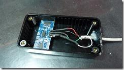 Installation du capteur SR04 dans le boitier