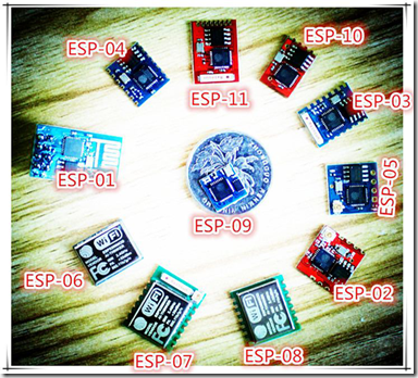 Différents modèles de l'ESP8266 par AI-Thinker