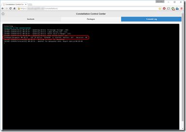 Démarrage de l'ESP dans la Console Log Constellation