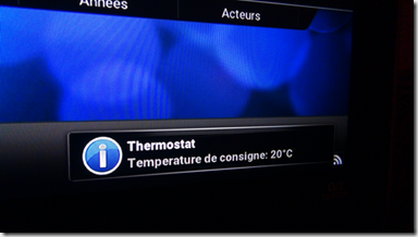 Notification du thermostat Nest dans Kodi