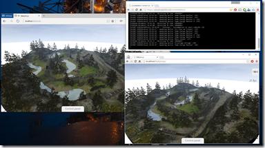 Demo BabylonJS/Constellation dans Edge & Chrome