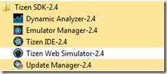 SDK Tizen 2.4 Rev1 installé !
