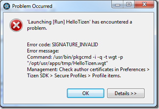 Certificat non installé !
