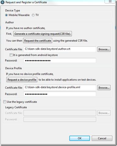 Enregistrement du certificat