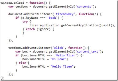 Code JS du template
