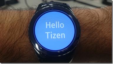 Hello Tizen sur la montre