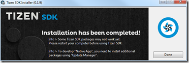 SDK Tizen 2.4 Rev1