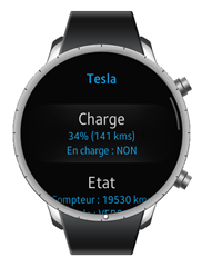 Interface Samsung Gear S2 pour Tesla via Constellation