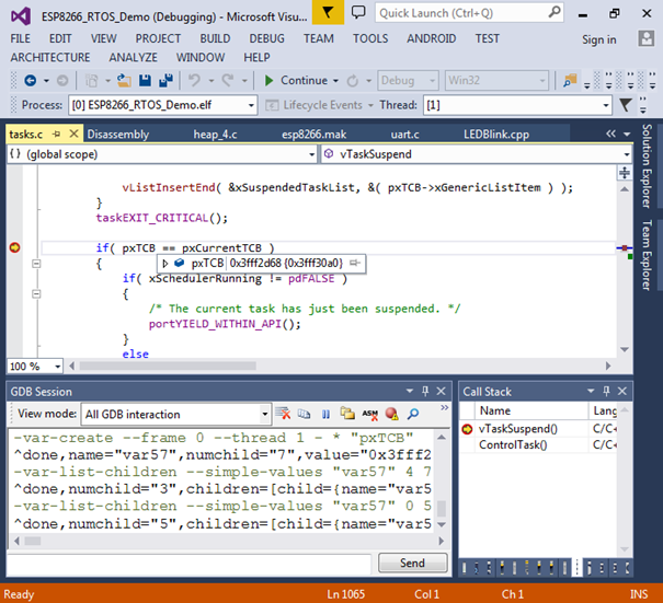il est alors possible de dployer et dboguer son code en temps rel en mettant des points darrt analysant le contenu de vos variables il est mme