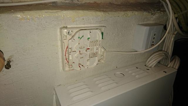 Installation de la PTO dans la cave