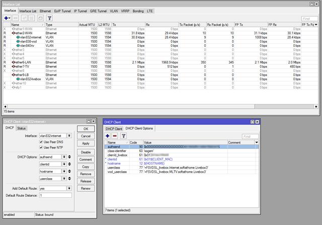 Configuration du client DHCP