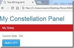Page de contrôle en Javascript