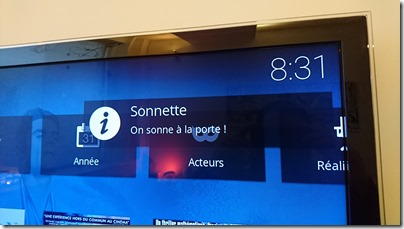 Notification sur les media-centers Kodi/Xbmc
