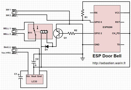 ESP Door Bell - Schéma électronique